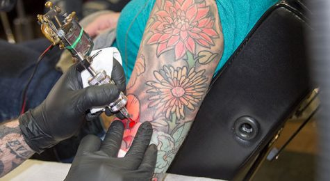 Tattoo shop draws in students