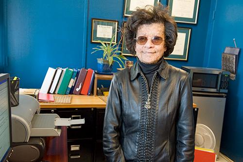 Dr. Sondra Solomon is pictured in her office. Solomon died Sept. 13 of cancer. She was an associate professor of psychological science.