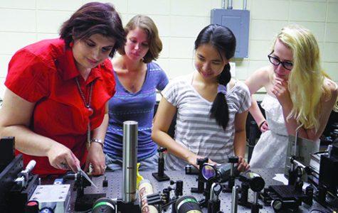 Students study flexible electronics