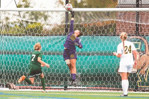 Goalie plays on despite adversity
