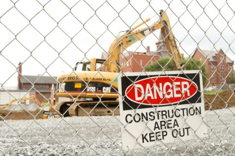 Campus construction begins with demolition of shoeboxes