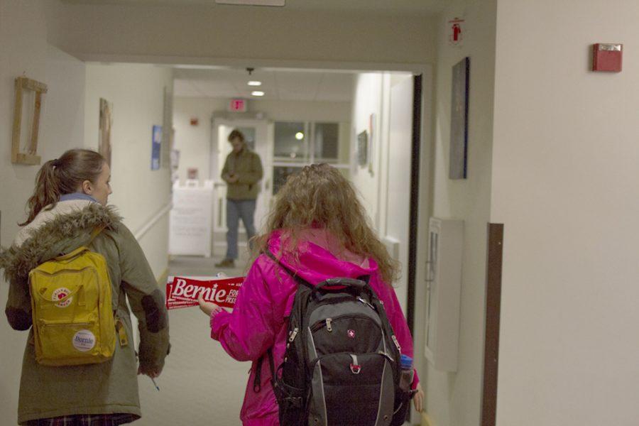 Bernie volunteers storm dorms