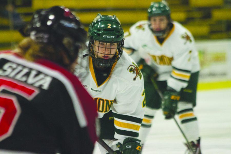 Women's hockey bitten by the Huskies