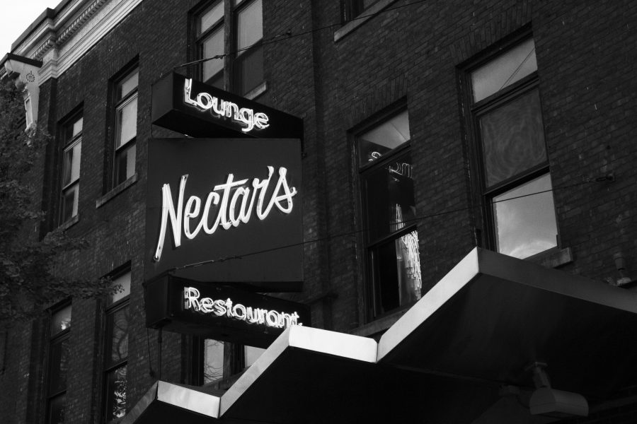 Nectar's Bar and Lounge on Main Street is pictured Oct. 11. Nectar's was bought by Nector Rorris in 1975 and has hosted bands like Phish and Grace Potter.