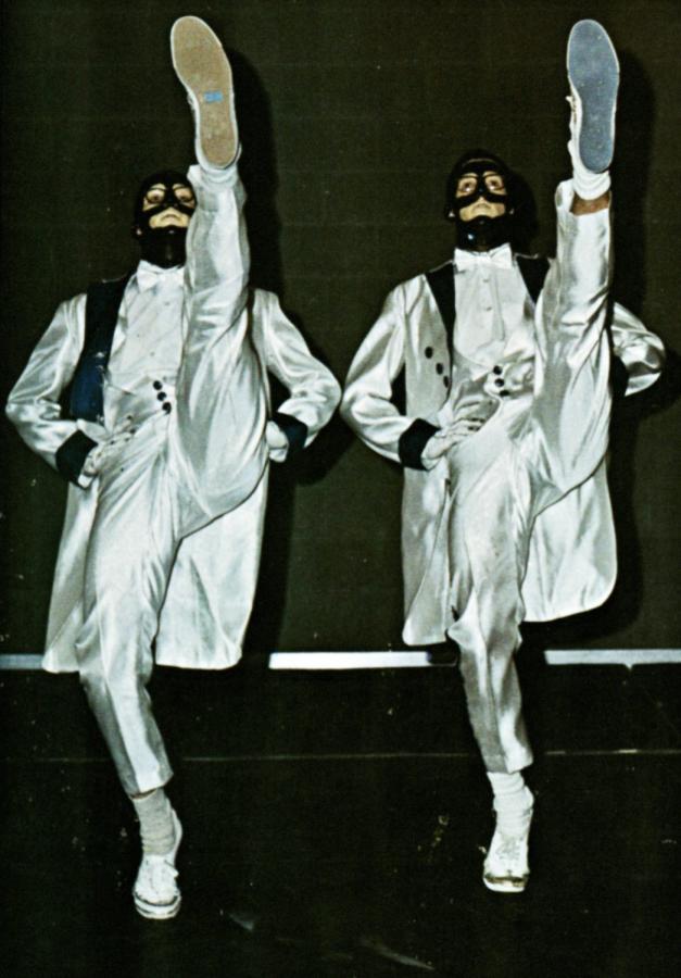 Two walkers dancing in the final 1969 Kake Walk.