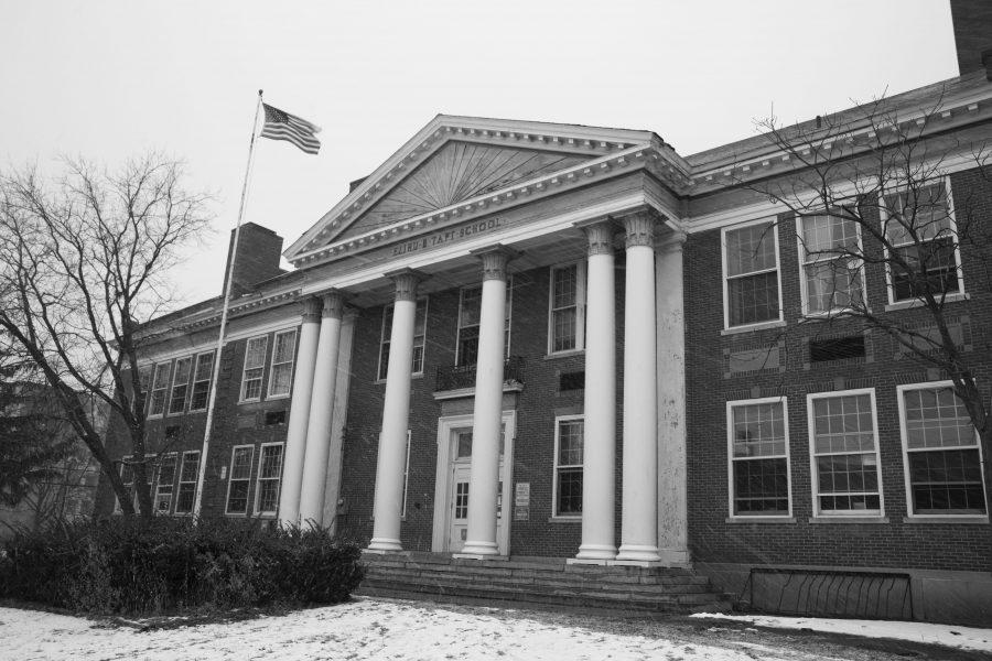 The Taft School is pictured Feb. 10. The school is currently un- dergoing renovations to build studios for the art and art history department. PHIL CARRUTHERS/The Vermont Cynic