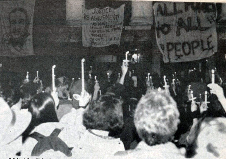 Protests during the 1991 Waterman Takeover.