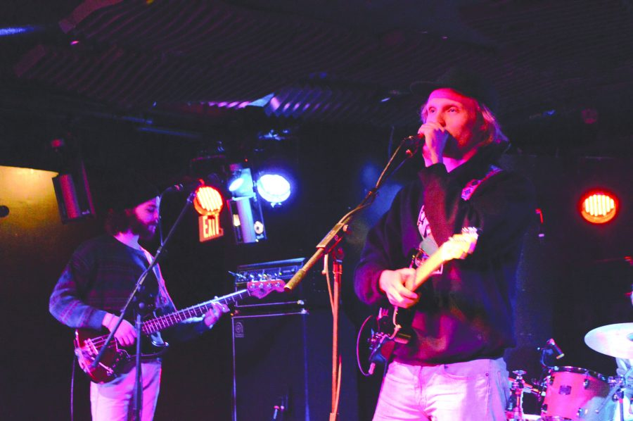 Self-described nomadic disco punk trio Bison performs at Battle of the Bands March 18. The group won the chance to be the opening act at SpringFest. Jen Ramirez/The Vermont Cynic