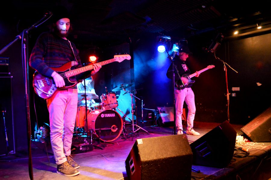 <strong>Student band Bison performs during the March 16 battle of the bands. The group was chosen to open for The Head and the Heart at SpringFest.</strong> JEN RAMIREZ/The Vermont Cynic
