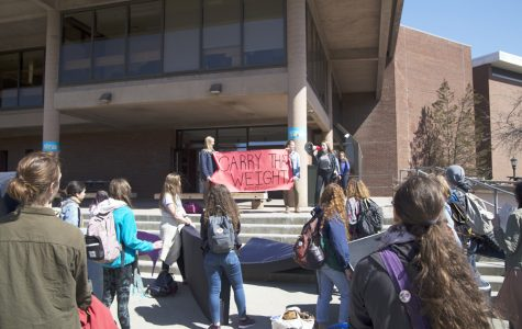 Mattresses carried to protest sexual assault