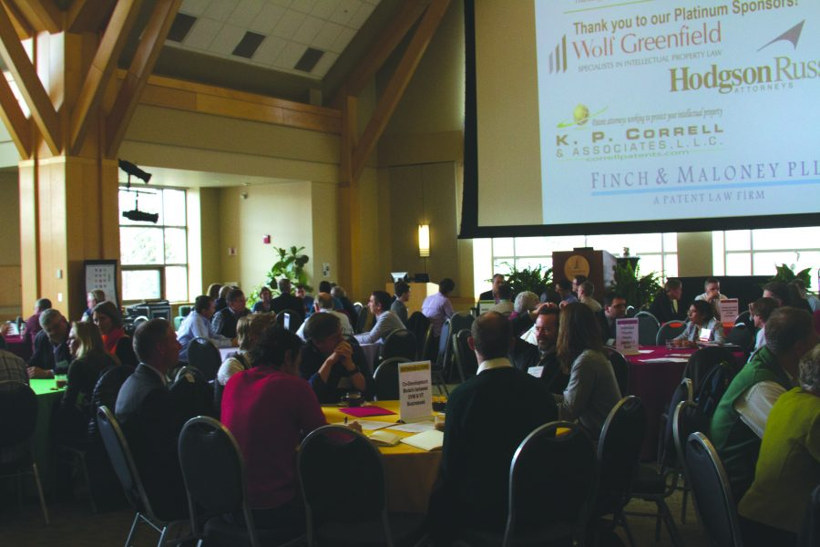 The Invention 2 Venture conference is pictured April 7. The conference focused on turning ideas and inventions into marketable products.