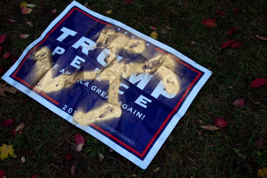 Trump sign marked with Swastika found near Hillel