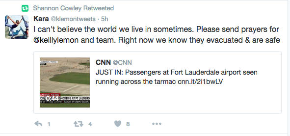 Swim team escaped airport shooting