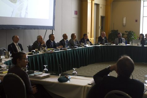 UVM board of trustees joint educational & institutional resources and budget, finance & investment committees meet to announce new multipurpose center.