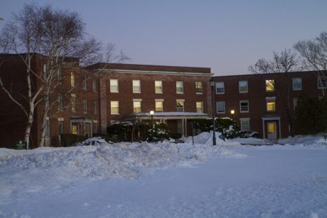 SABRINA HOOD| The Vermont Cynic Coolidge Hall is pictured. Residents have seen an increased police presence in and around the hall over the last month.