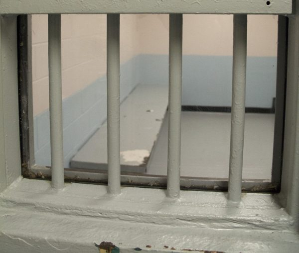 The outside of a jail cell at Chittenden Regional Correctional Facility Oct. 2.