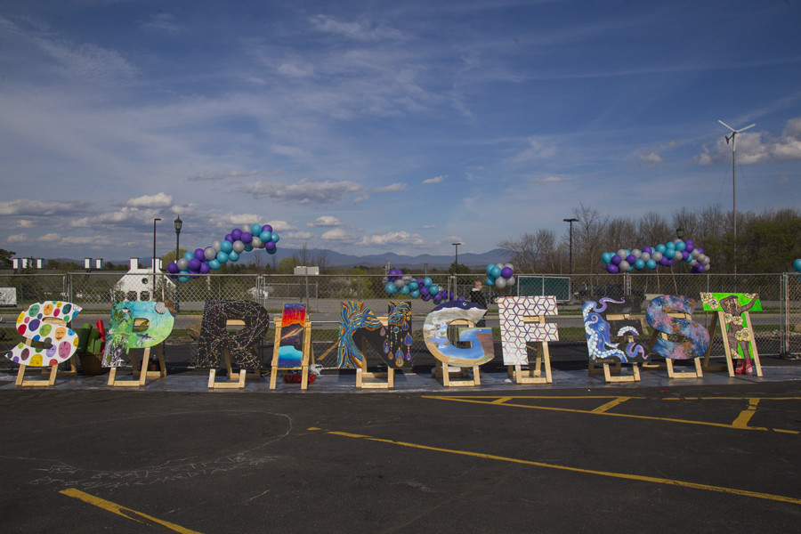 Students+painted+letters+to+be+displayed+at+SpringFest.+