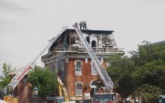 Fire breaks out at historic campus building