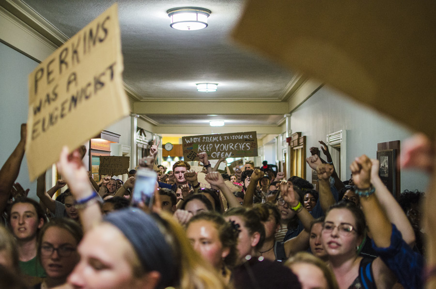Students present list of demands to President Sullivan