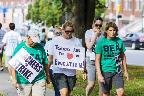 Burlington teachers strike and garner UVM support