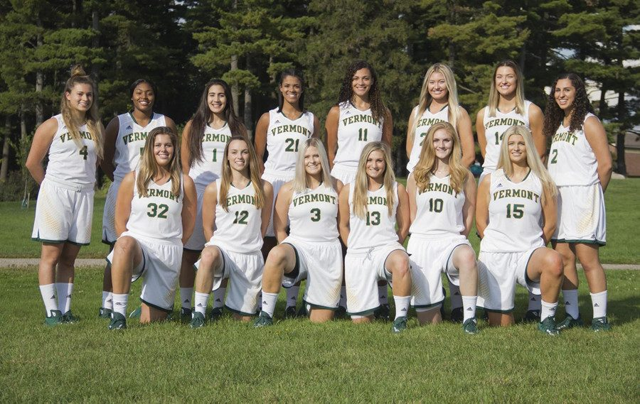The 2017-18 women's basketball team. Their season kicks off at Dartmouth Nov. 10.