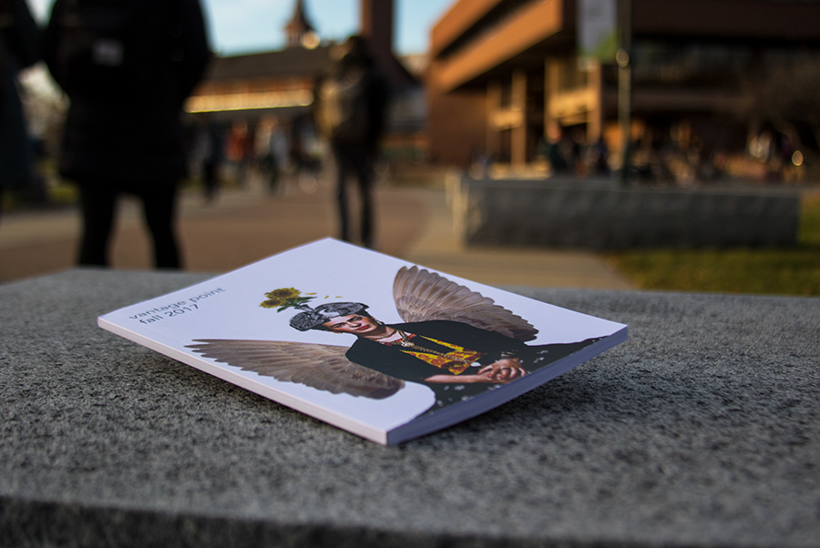 The newest edition of the UVM student-run literary arts magazine, Vantage Point Nov. 15. The publication is almost 20 years old and accepts student art of all kinds, ranging from short fiction writing to photography.