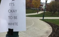 'It's okay to be white' posters spotted around campus