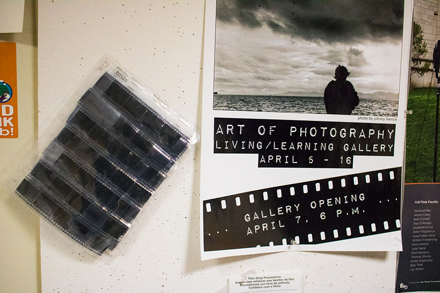 The Photo Co-op in the Living/Learning Center gives students access to the facility for $90 a semester. The Co-op offers a fully equipped darkroom and individual instruction in film photography.
