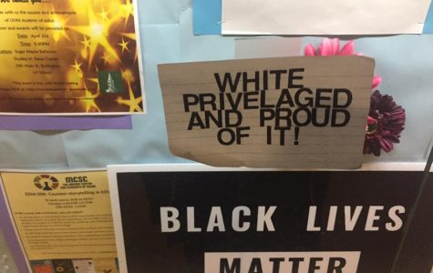 Diversity display vandalized