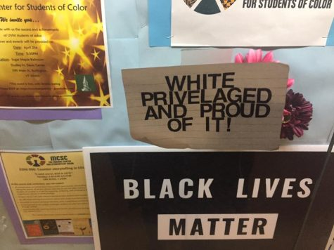 Anti-racist posters spread around campus