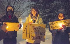 Students protest gun rights rally