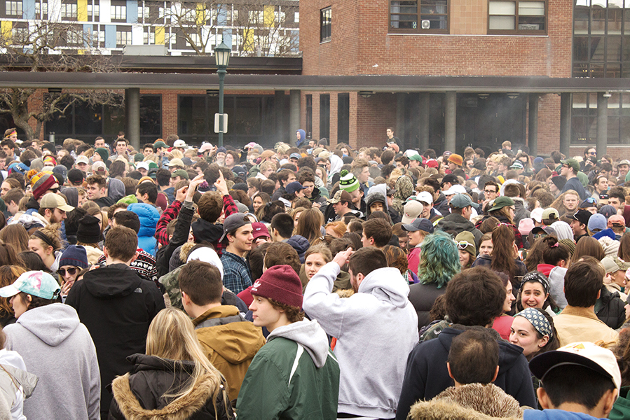 Police watch over 4/20 crowd
