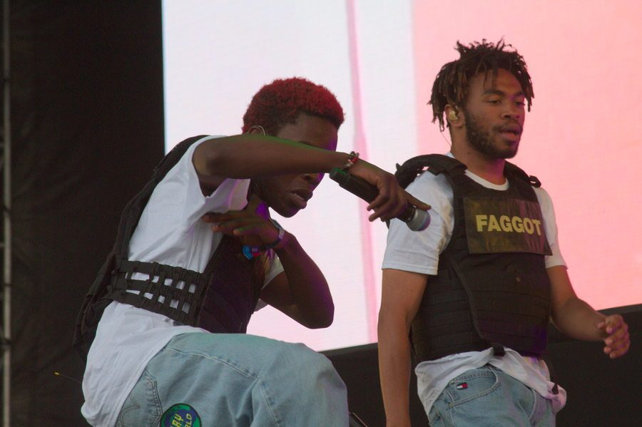 Brockhampton performs on the Delta Blue Stage on Saturday.