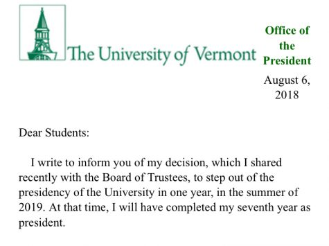 UVM President to resign