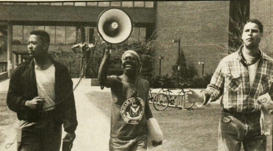 UVM student's protesting 1988