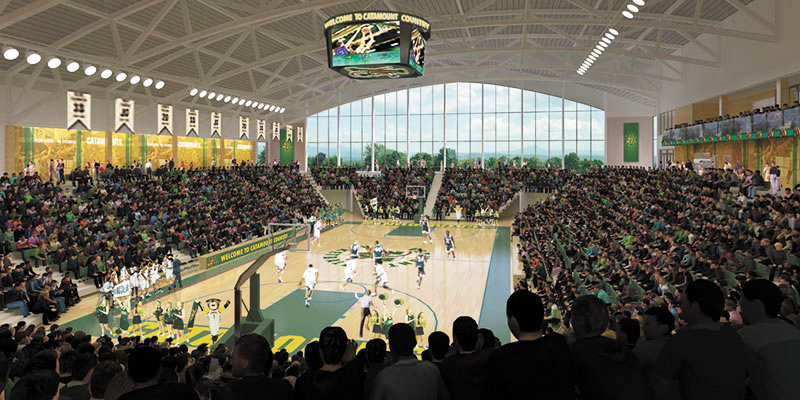 The Tarrant Event Center, named after the project's leading donors, is set to begin construction in early 2019. Richard and Deb Tarrant donated $15 million to the new multipurpose facility.