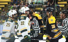 Men's hockey wins against Merrimack
