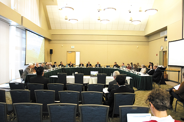 Members of UVM's board of trustees gather Feb. 2 in the Livak Ballroom in the Davis Center to discuss relevant issues at the University. The board decided in fall 2019 two new majors, one new minor and three certificate programs will be added in various colleges.