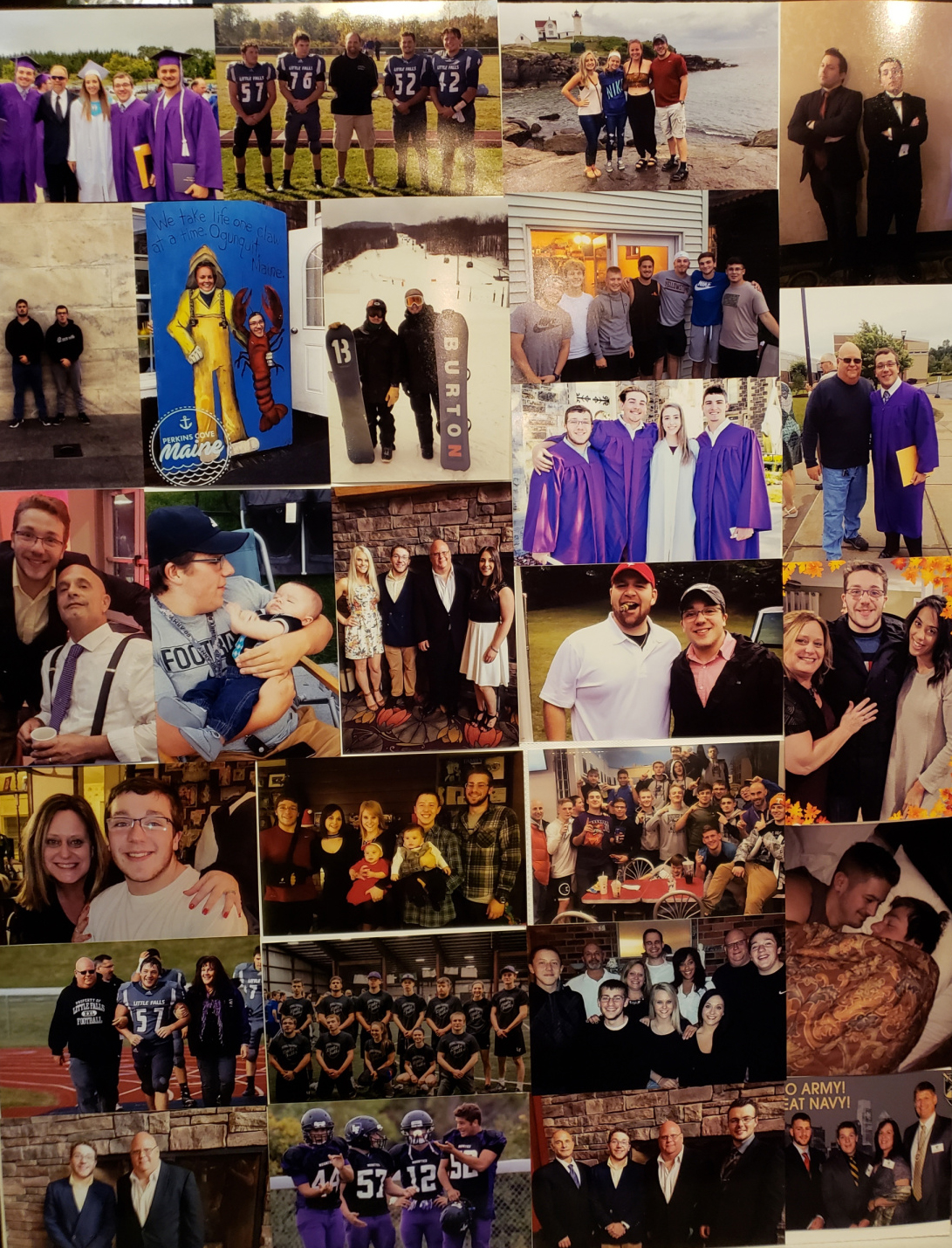 A collage of photos of Connor Gage posted Feb. 10 on his Caring Bridge site by family friend Andrew Topham. Gage died Feb. 2 in a North Winooski Avenue parking lot after exposure to sub-zero temperatures following visits to two off-campus fraternities.