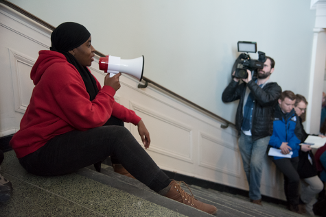 Student protestors host rally on anniversary of Waterman building takeover