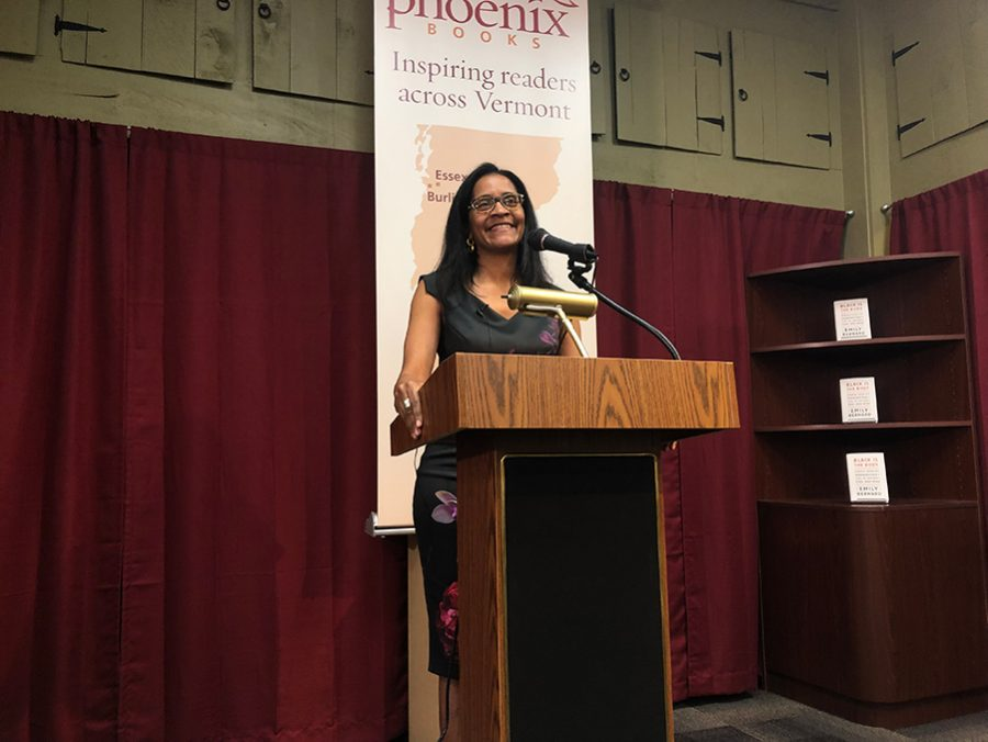 "Emily Bernard delivers a reading of a sample of essays from her new book ""Black is The Body: Stories from My Grandmother's Time, My Mother's Time and Mine"" January 2019 at Phoenix Books. The book is a collection of essays that narrate her experiences as a black woman, a daughter, an adoptive mother and an educator."