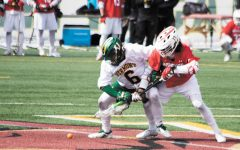 Men's lacrosse game against Hartford