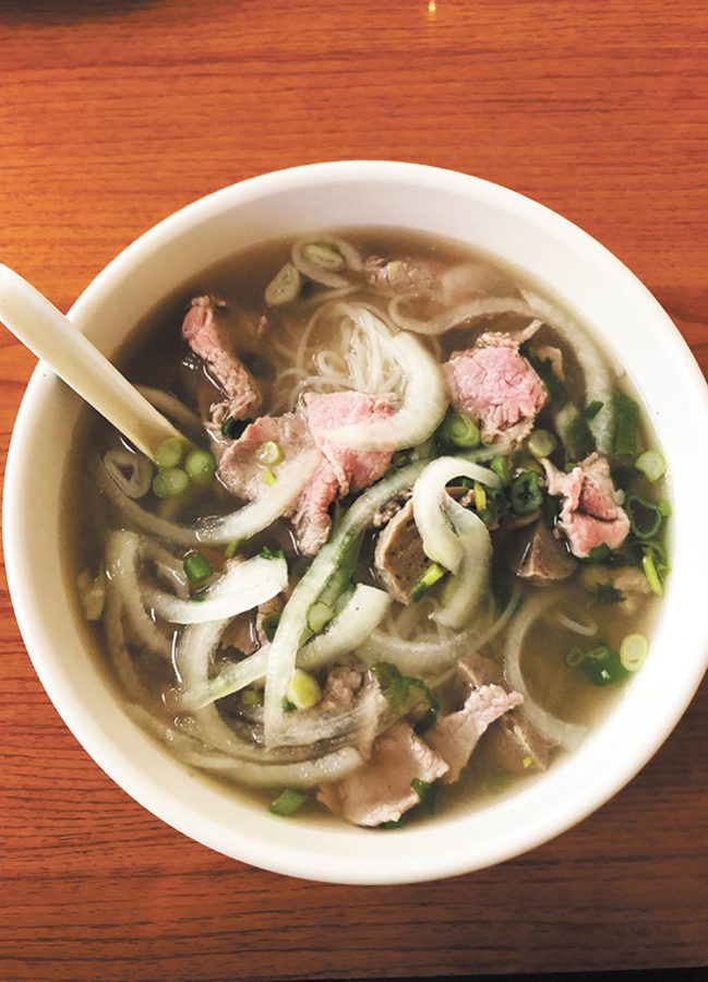 The pho at Pho Dang on Main Street in Winooski is served with crispy bean sprouts on the side which can be added as well as Sriracha or hoisin sauce. Traditional pho, rice plates and noodles are moderately priced ranging $6 to $9.