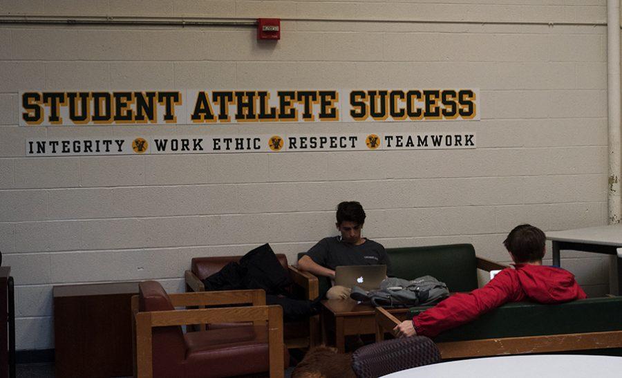 Athletes study room