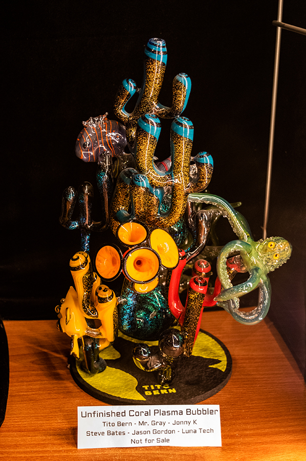 A+coral+themed+bubbler+made+by+Tito+Bern+and+a+team+of+artists+sits+unfinished+at+the+Bern+Gallery.