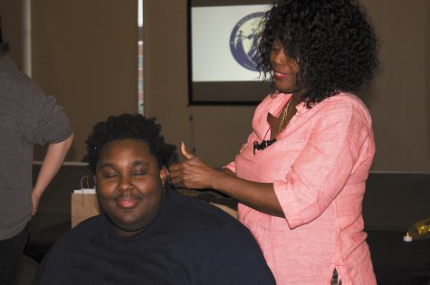 Samples, education and music at 2019 hair expo