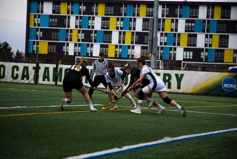 Women's lax playing UMBC