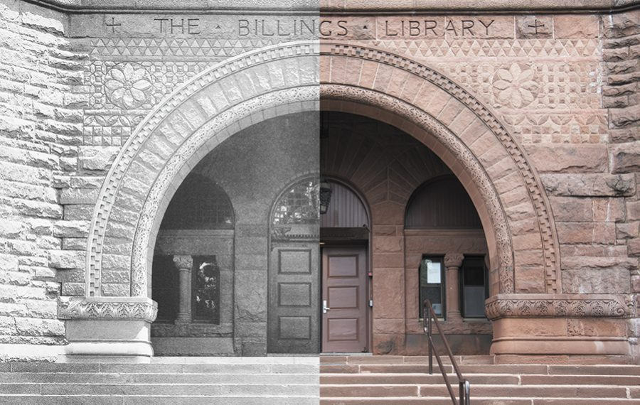 Originally constructed in the 1880s, Billings Library has been a library, a student center and now houses the UVM Special Collections.