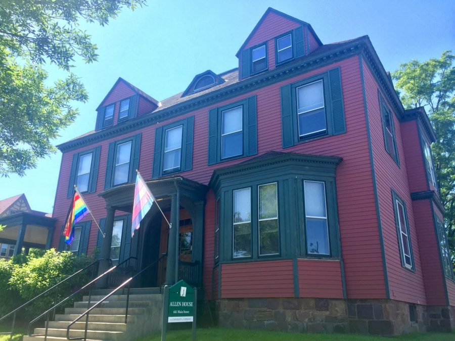 Allen House is home to the Prism Center, which serves LGBTQ students and faculty