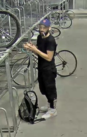Security footage of Alex Breeyear, one of the suspects in the bike robbery.